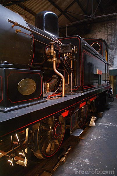 Picture of Steam locomotives at Marley Hill - Free Pictures - FreeFoto.com