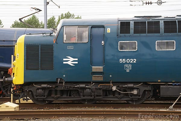 Picture of Deltic 55022 Royal Scots Grey - Free Pictures - FreeFoto.com