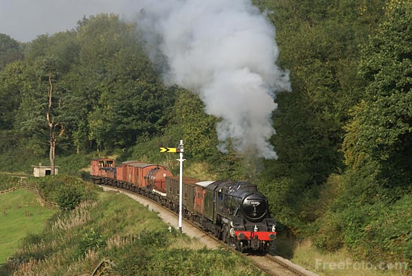 Picture of LMS Stanier class 5MT 4-6-0 steam locomotive 45231 - Free Pictures - FreeFoto.com