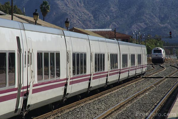 Picture of Cartagena Murcia Madrid Altaria Train service composed of locomo - Free Pictures - FreeFoto.com