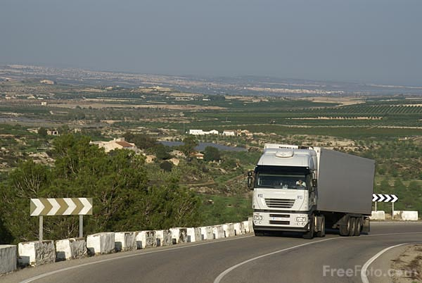 Picture of Country Road in Southern Spain - Free Pictures - FreeFoto.com