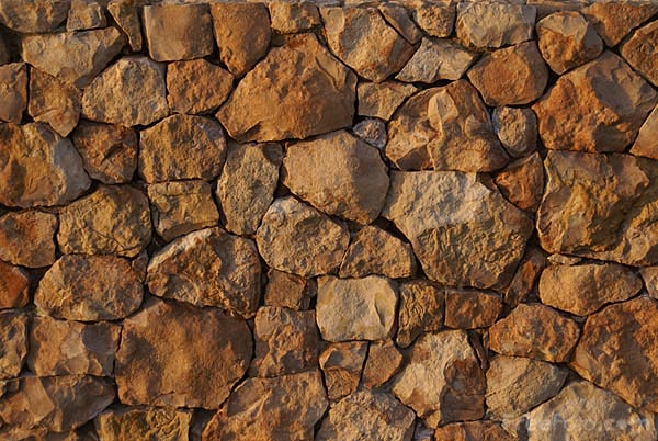 Picture of Stone wall with evening sunlight - Free Pictures - FreeFoto.com