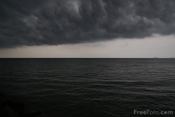 Picture of Storm clouds over the Mediterranean Sea - Free Pictures - FreeFoto.com