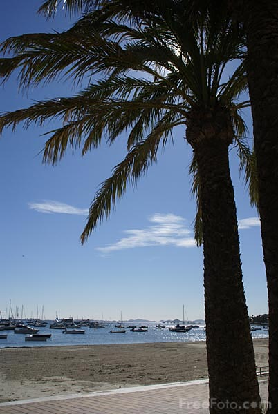Picture of San Javier beach and waterfront - Free Pictures - FreeFoto.com