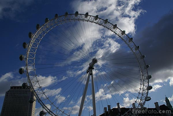 Picture of The London Eye - Free Pictures - FreeFoto.com