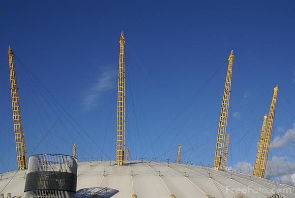 Picture of O2 Arena, Greenwich, London - Free Pictures - FreeFoto.com
