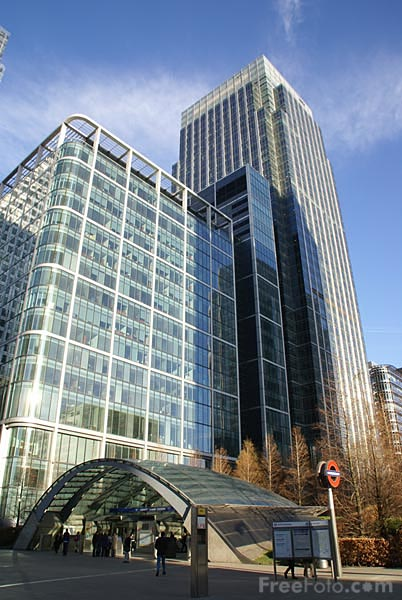 Picture of Canary Wharf, London - Free Pictures - FreeFoto.com