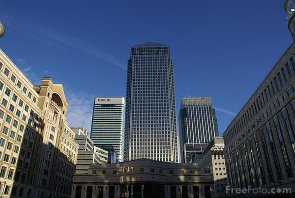 Picture of One Canada Square Canary Wharf Tower, London - Free Pictures - FreeFoto.com