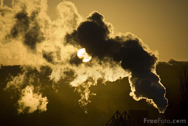 Picture of Industrial Sunset - Free Pictures - FreeFoto.com