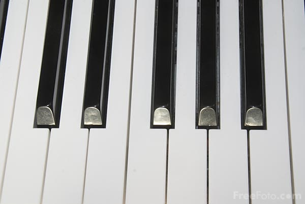 Picture of Piano Keyboard - Free Pictures - FreeFoto.com