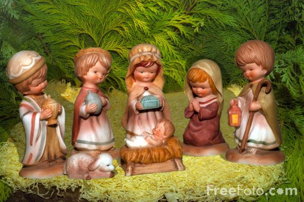 Picture of Christmas nativity scene - Free Pictures - FreeFoto.com