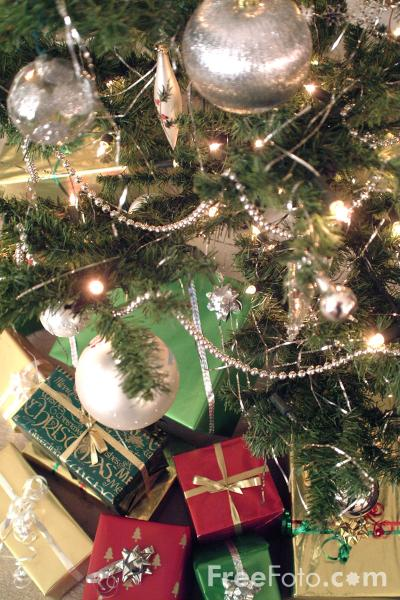 Picture of Christmas Tree and presents - Free Pictures - FreeFoto.com