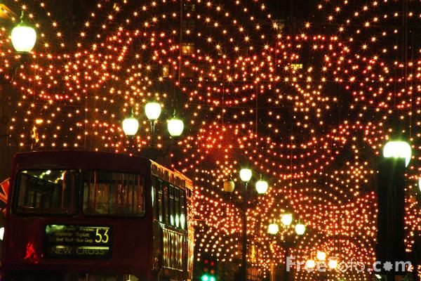 Picture of Regent Street Lights - Free Pictures - FreeFoto.com
