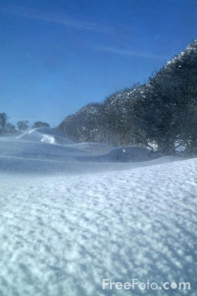 Picture of Snow Drift, Northumberland - Free Pictures - FreeFoto.com