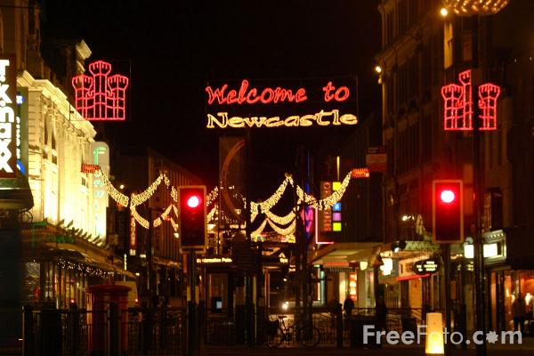 Picture of Northumberland Street Christmas Lights, Newcastle upon Tyne - Free Pictures - FreeFoto.com