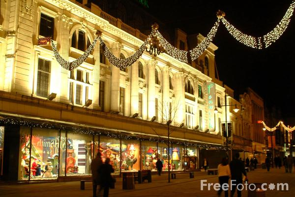 Picture of Fenwick Department Store at Christmas, Newcastle upon Tyne - Free Pictures - FreeFoto.com
