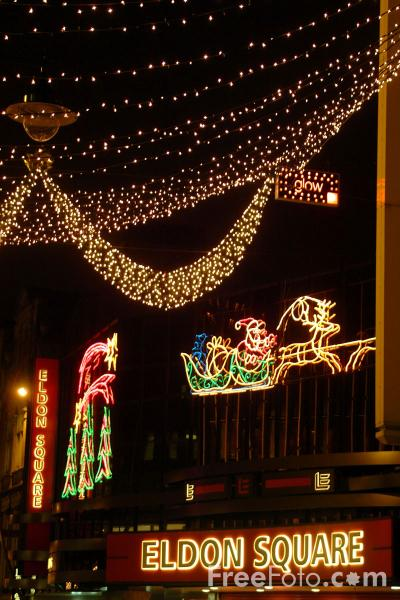 Picture of Christmas Lights, Newcastle upon Tyne - Free Pictures - FreeFoto.com