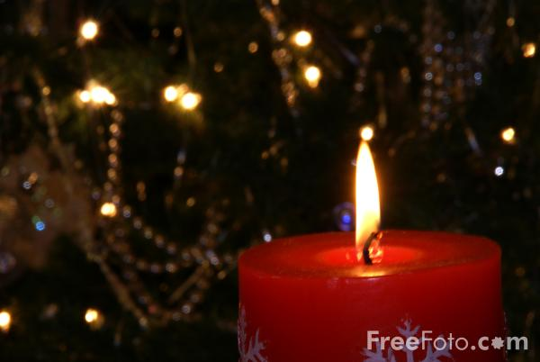 Picture of Christmas candle - Free Pictures - FreeFoto.com