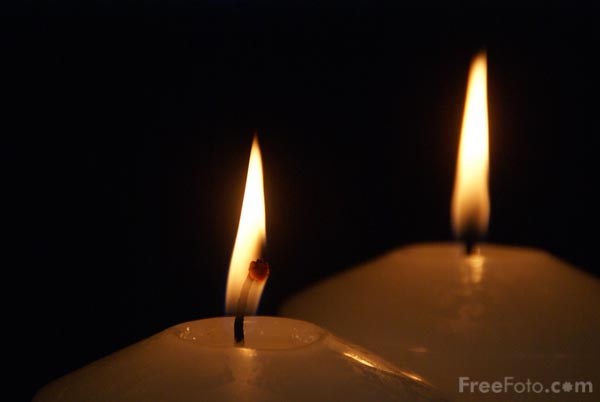 Picture of Two Advent Candles - Free Pictures - FreeFoto.com
