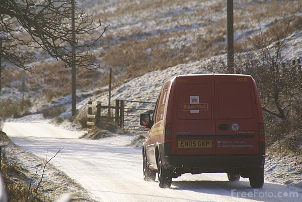 Picture of Royal Mail Post Van - Free Pictures - FreeFoto.com