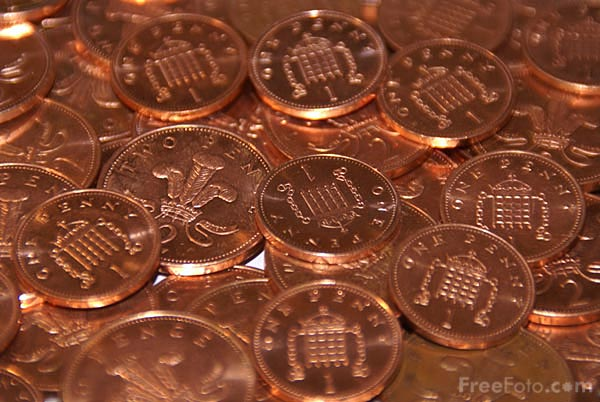 Picture of Coins - Free Pictures - FreeFoto.com