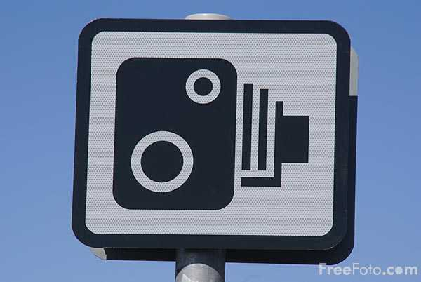 Picture of UK Speed Camera Sign - Free Pictures - FreeFoto.com
