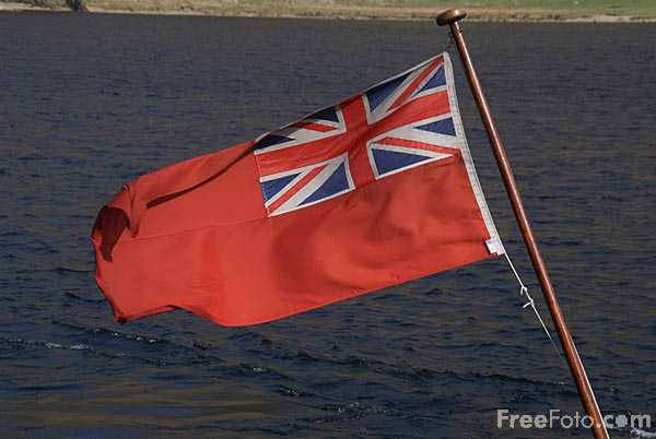 Picture of British Red Ensign Flag - Free Pictures - FreeFoto.com