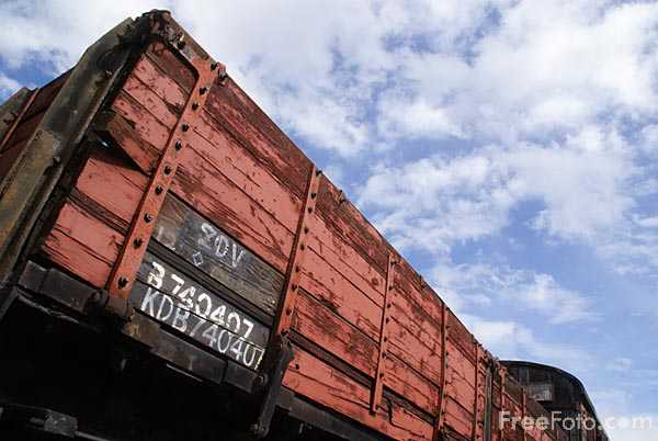 Picture of Railway Goods Wagon - Free Pictures - FreeFoto.com
