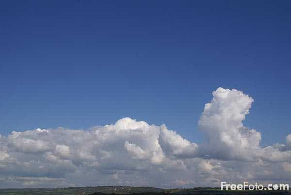 Picture of White clouds and blue sky - Free Pictures - FreeFoto.com
