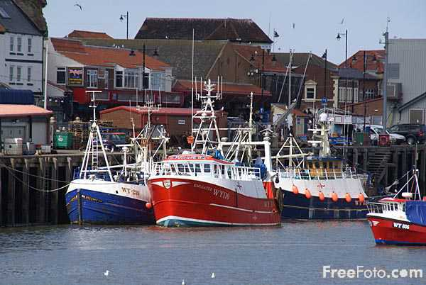Picture of Fishing Boat, Whitby Harbour, North Yorkshire - Free Pictures - FreeFoto.com