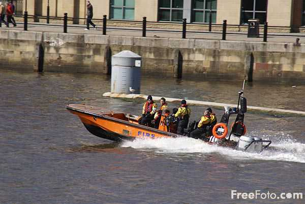 Picture of Fire and Rescue Boat - Free Pictures - FreeFoto.com