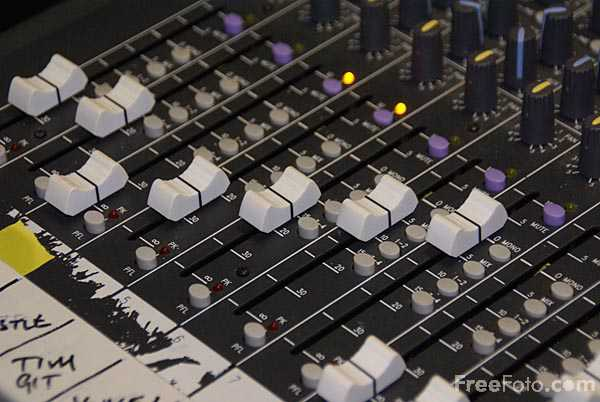 Picture of Sound Mixing Desk - Free Pictures - FreeFoto.com