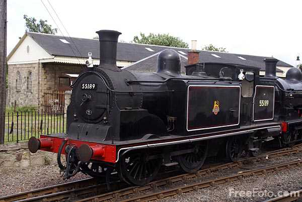 Picture of Caledonian Railway Class 439 0-4-4T tank British Railways number - Free Pictures - FreeFoto.com