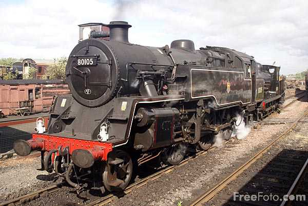 Picture of British Railways Standard Class 4 2-6-4T tank number 80105 - Free Pictures - FreeFoto.com