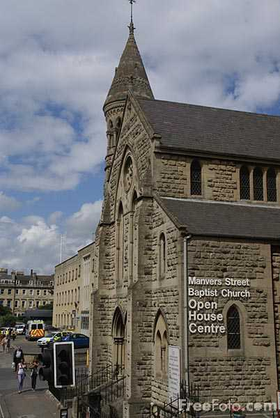Picture of Manvers Street Baptist Church, City of Bath - Free Pictures - FreeFoto.com