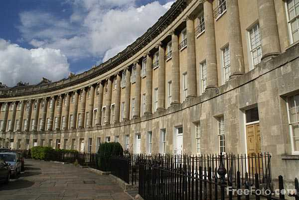 Picture of The Royal Crescent, City of Bath - Free Pictures - FreeFoto.com