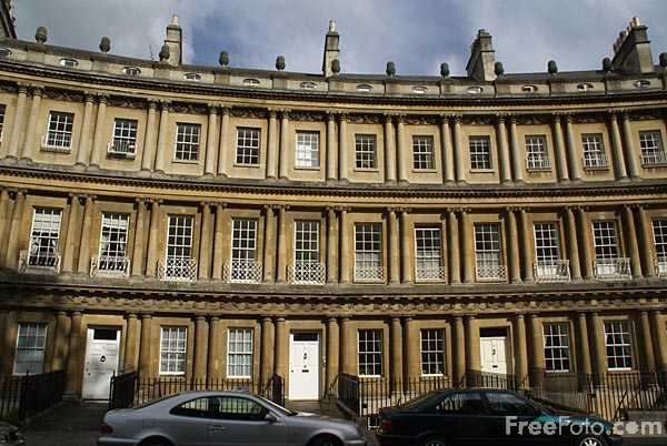 Picture of The Circus, City of Bath - Free Pictures - FreeFoto.com