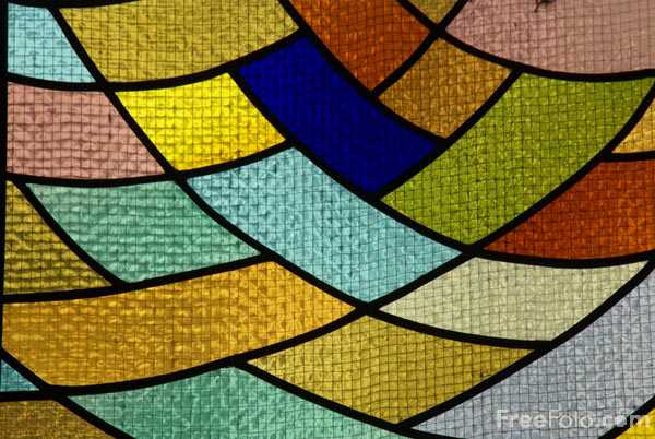 Picture of Modern Stained Glass - Free Pictures - FreeFoto.com