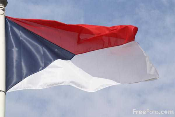Picture of Flag of the Czech Republic - Free Pictures - FreeFoto.com
