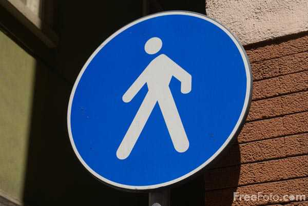 Picture of Pedestrians Only Sign - Free Pictures - FreeFoto.com