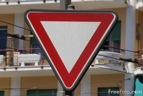 Picture of Triangle Road Traffic Sign - Free Pictures - FreeFoto.com