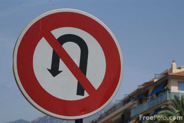 Picture of No U Turn Road Sign - Free Pictures - FreeFoto.com