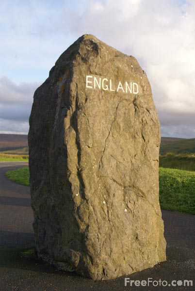 Picture of England border at Carter Bar - Free Pictures - FreeFoto.com