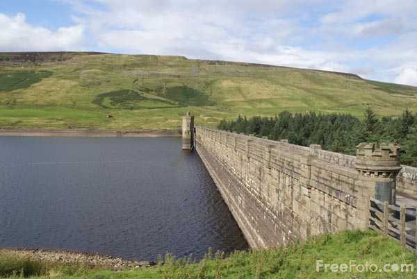 Picture of Scar House Reservoir in Nidderdale, North Yorkshire. - Free Pictures - FreeFoto.com