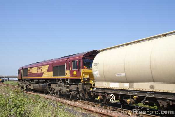 Picture of EWS class 66 66187 - Free Pictures - FreeFoto.com