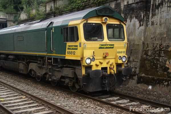Picture of Freightliner class 66 diesel locomotives - Free Pictures - FreeFoto.com