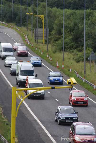 Picture of SPECS Speed Camera on the A1 Western Bypass Gateshead - Free Pictures - FreeFoto.com