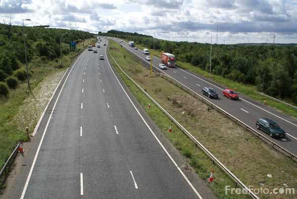 Picture of A1 Western Bypass Gateshead - Free Pictures - FreeFoto.com
