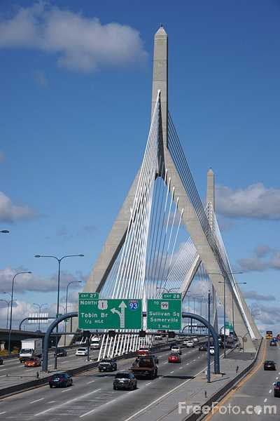 Picture of Zakim Bridge - Free Pictures - FreeFoto.com