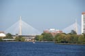 Image Ref: 909-22-104 - The Leonard P Zakim-Bunker Hill Memorial Bridge, Boston's new cable-stayed bridge over the Charles River, is the world's widest, Viewed 2960 times